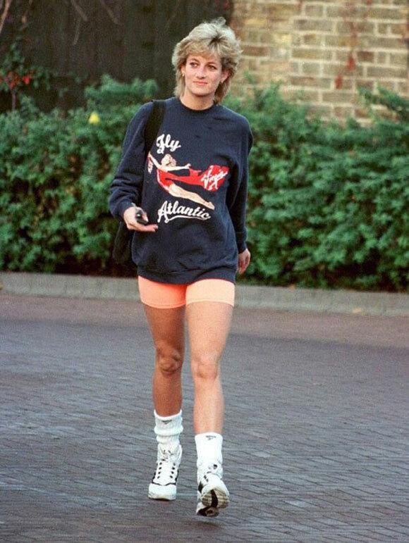 Diana trong một lần đi tập gym năm 1993. Ảnh: UK Press.