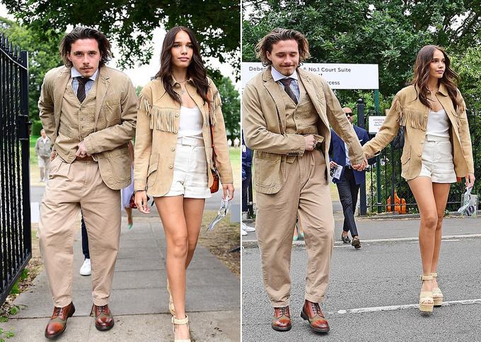 Cặp sao trẻ gây chú ý khi cùng diện trang phục của nhãn hiệu