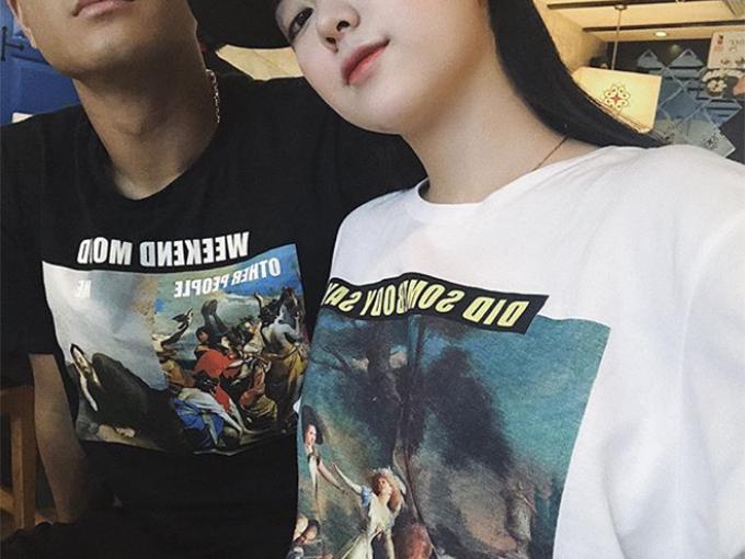 Đức Chinh và bạn gái Mai Hà Trangmới công khai yêu nhau từ tuần trước.Ảnh: Instagram.