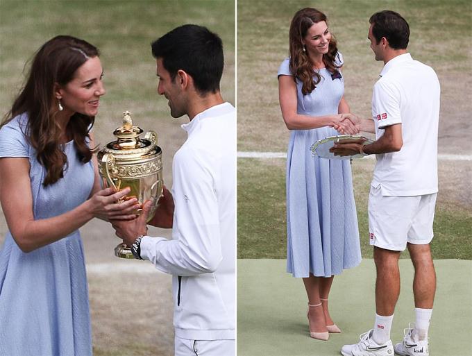 50 sắc thái khi xem chung kết Wimbledon 2019 của Kate - 1