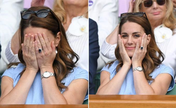 50 sắc thái khi xem chung kết Wimbledon 2019 của Kate - 8