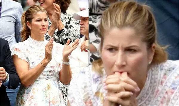 Mirka chăm chú theo dõi diễn biến trận đấu, gương mặt căng thẳng