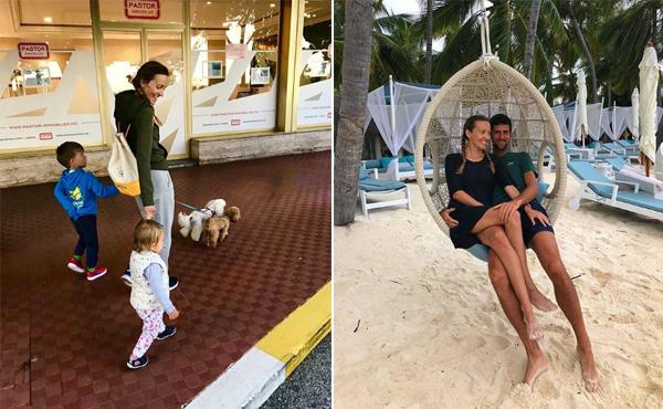 Vợ chồng Djokovic gắn bó gần 15 năm và có hai nhóc.