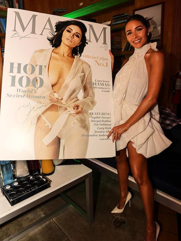 Một ngày trước đó, Olivia tham dự buổi tiệc của tạp chí Maxim để chúc mừng cô trở thành Người phụ nữ gợi cảm nhất thế giới năm 2019.