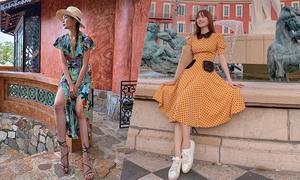 Mặc váy cổ điển như sao Việt