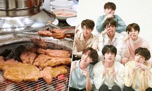 Nhà hàng thịt nướng trưng bày đồ lưu niệm của nhóm BTS ở Hà Nội