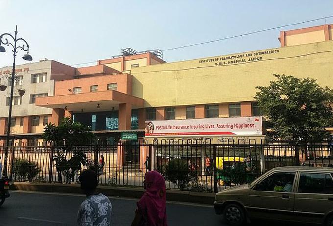 Bệnh viện SMS ở Jaipur, nơi nữ nạn nhân đang được điều trị. Ảnh: Times of India.