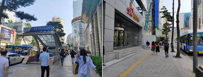 Sáng vội vã: Một ngày của nhân viên văn phòng, học sinh và sinh viên tại thủ đô Seoul bắt đầu từ khá sớm bởi hầu hết khu dân cư đều cách trung tâm thành phố 1 - 2 giờ đồng hồ di chuyển. Từ 6h, các con đường đã đông đúc người dân qua lại. Những khu vực tập trung đông đảo nhất là bến tàu điện ngầm, trạm xe buýt. Thay vì dùng phương tiện cá nhân, người Hàn Quốc ưu tiên các kênh giao thông công cộng. Nhiều bạn trẻ đi bộ từ tàu điện ngầm đến các booth thuê xe đạp tự do để tiếp tục di chuyển.