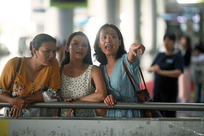 Dàn diễn viên phụ Kiều Trinh, Thanh Tú, Hồng Ánh (từ trái qua) là những nhân tố đáng chờ đợi của phim.