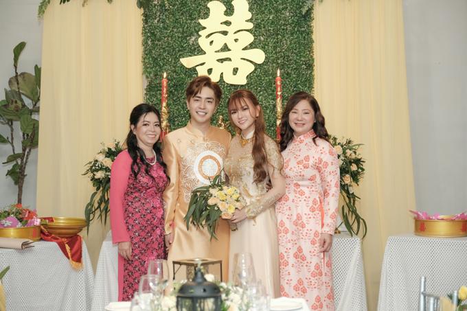 Sáng 17/7, ca sĩ Thu Thủy và doanh nhân Kin Nguyễn đã cử hành lễ vu quy ở nhà gái tại TP HCM.