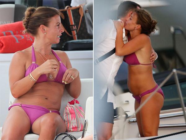 Coleen vui vẻ bên bạn bè tại Ibiza