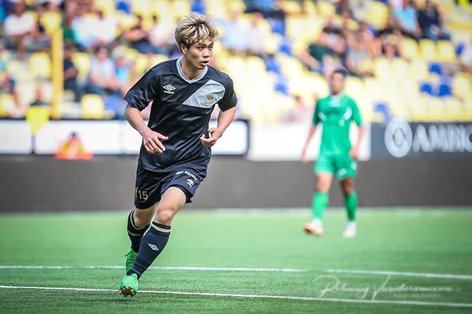 Công Phượng mới tới Bỉ hôm 13/7 và anh chỉ có ít thời gian luyện tập cùng các đồng đội mới.