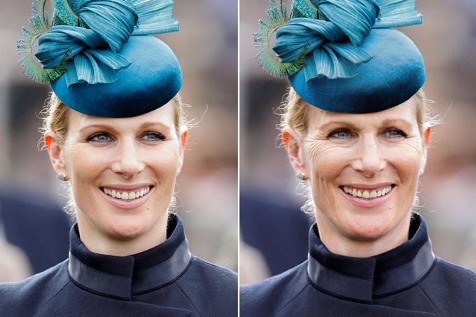 Zara Tindall, em họ của Hoàng tử William răng vàng và tăng thêm nếp nhăn quanh mắt.