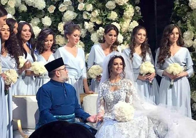 Hoa khôi Moskva kết hôn với Muhammad V trong một đám cưới xa hoa hồi tháng 11/2018 ở ngoại ô Moskva, Nga. Ảnh: Instagram.