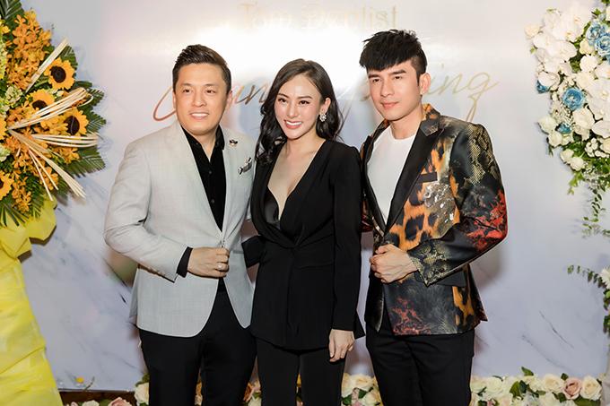 Lam Trường và Đan Trường hội ngộ tại sự kiện do Hoa hậu Áo dài Thu Hoàng tổ chức tại Hà Nội tối 19/7.