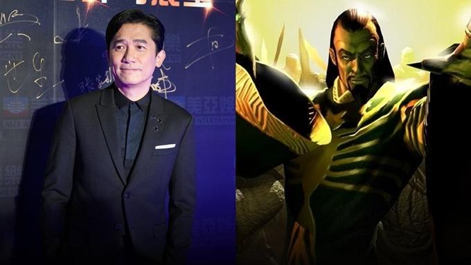 Lương Triều Vỹ và chân dung nhân vật The Mandarin trong nguyên tác truyện tranh.