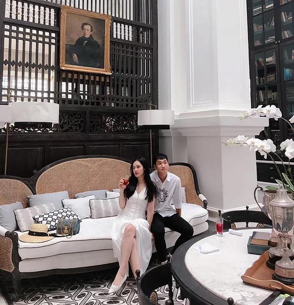 Trọng Đại và bạn gái trong kỳ nghỉ ở Phú Quốc tháng 8/2018. Ảnh: FB.