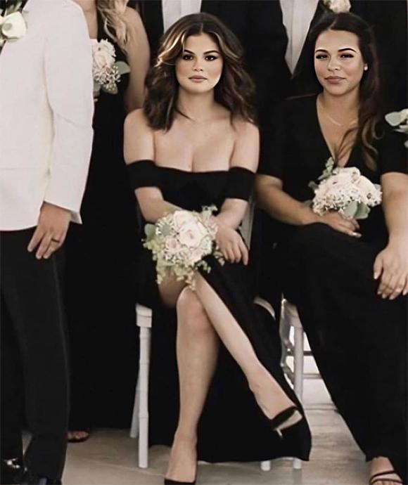 Selena Gomez xuất hiện quyến rũ trong vai trò phù dâu.