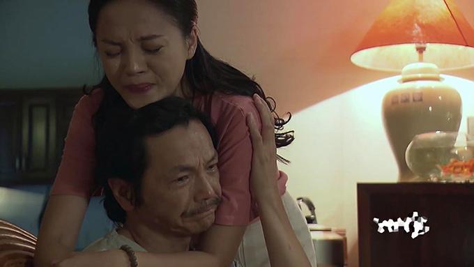 NSƯT Trung Anh và Thu Quỳnh trong tập 70 Về nhà đi con.