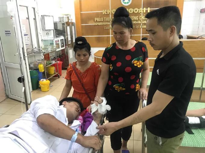 Anh May tại Bệnh viện Đa khoa tỉnh Hải Dương.