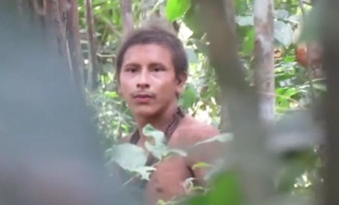 Chân dung người rừng Amazon sống ởMaranhao, Brazil. Ảnh cắt từ video.
