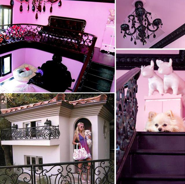 Nội và ngoại thất căn biệt thự đắt đỏ dành cho đàn chó của Paris Hilton.