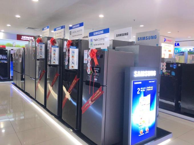 Nguyễn Kim kết hợp cùng Samsung giảm giá tủ lạnh, máy giặt Trong Tuần lễ vàng Hàn Quốc, từ nay đến 28/7, Nguyễn Kim và Samsung giảm giá tủ lạnh, máy giặt gần đến 50%, bảo hành 60 tháng và dành nhiều quà tặng.Nguyễn Kim kết hợp cùng Samsung giảm giá tủ lạnh, máy giặt