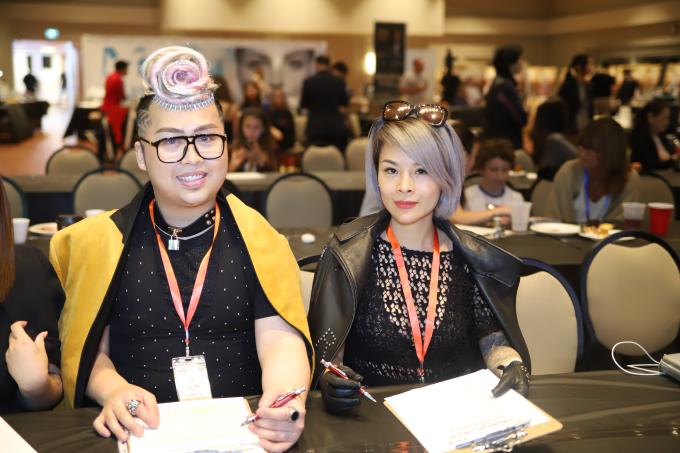 Hoa hậu Nguyễn Vi Thúy làm giám khảo sự kiện phun xăm thẩm mỹ tại Canada - 1
