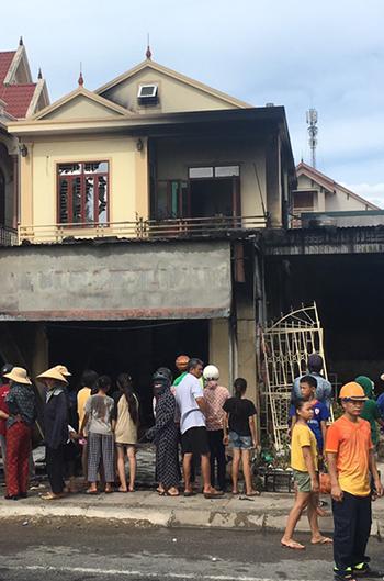 Ngôi nhà sau vụ cháy.