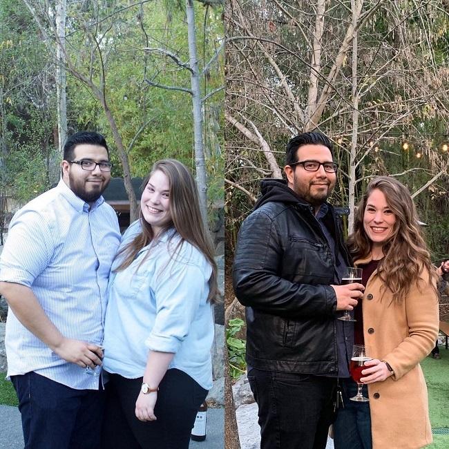 Cả Meghan và bạn trai đều thành công trong việc giảm cân và cải thiện sức khỏe.