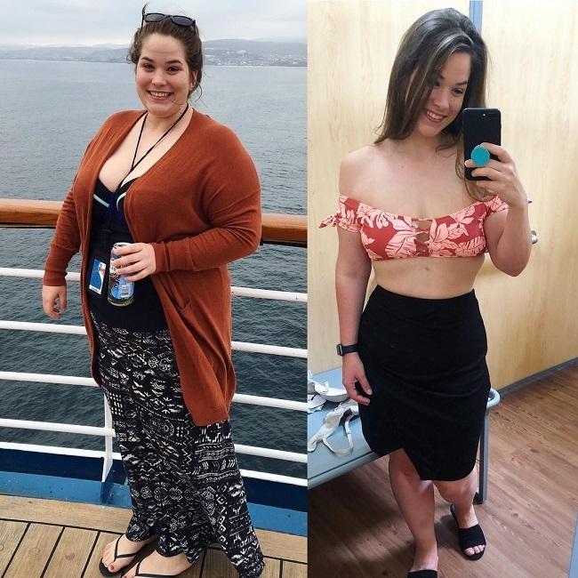 Meghan từng chạm mốc 136 kg.
