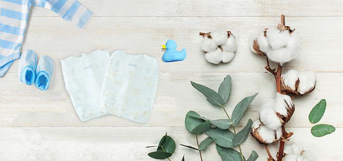 Trên thị trường xuất hiện nhiều sản phẩm tã giấy, quần áo, khăn bông từ chất liệu tự nhiên.