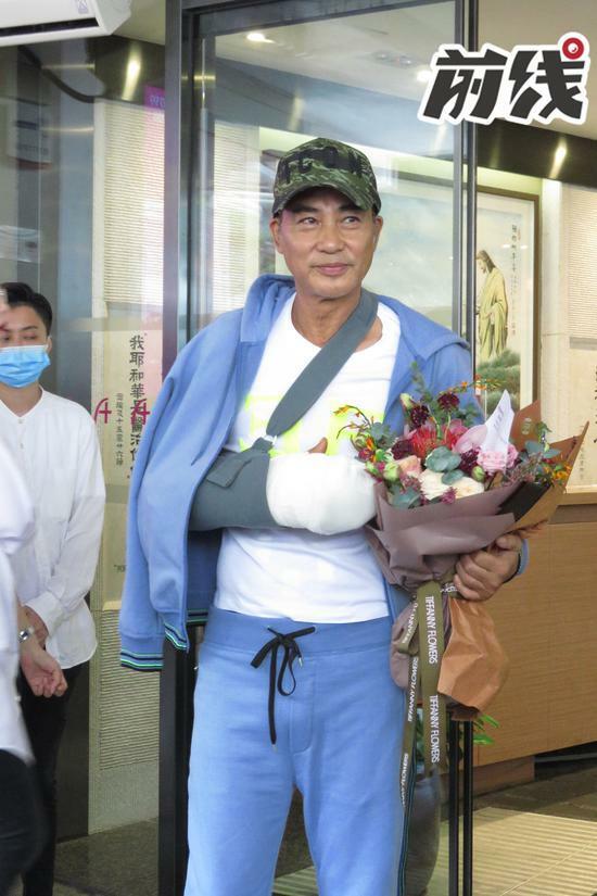 Tài tử Nhậm Đạt Hoa xuất hiện hôm 24/7.