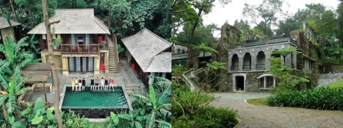 Biệt thự Melia Ba Vì: Căn biệt thự này có không gian thoáng đãng, rộng rãi, cách Hà Nội khoảng hơn 50km. Không gian núi rừng nơi đây biến căn biệt thự này trông giống một phim trường.