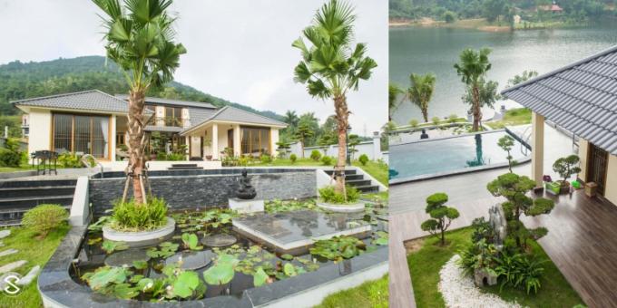 Điểm thu hút nhất của căn villa nằm ngay tại ngoại thành Hà Nội này là mặt hướng về phía hồ Đồng Đò. Du khách không chỉ được hưởng tiện ích hàng đầu mà còn có cơ hội được hòa mình vào thiên nhiên.