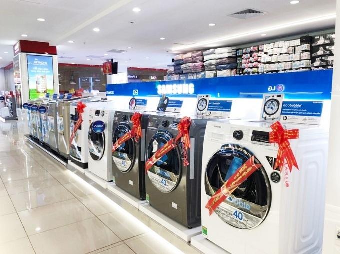 Máy giặt cửa trước, cửa lồng ngang có mức ưu đãi lên đến 42%.