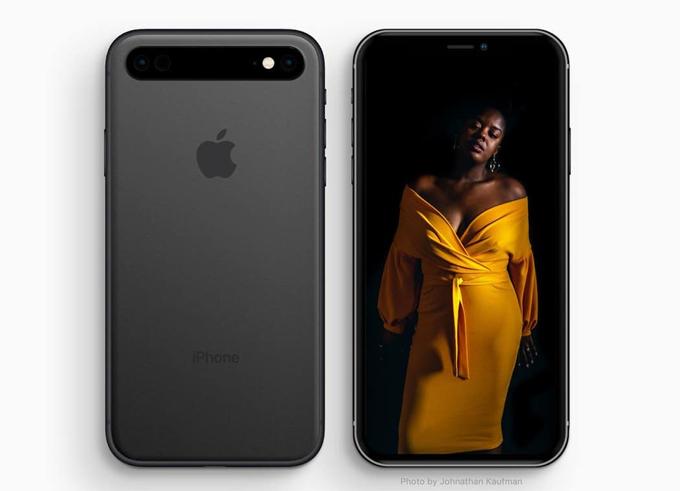 Ý tưởng iPhone có cụm camera xếp ngang