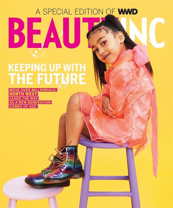Tháng 2 năm nay, North được lên bìa tạp chí thời trang Graces the Pages. Cô bé được đánh giá là người dẫn đầu của thế hệ Alpha - thế hệ trẻ nhất kết nối với công nghệ, gắn bó với thời trang, làm đẹp và cá tính trong phong cách.