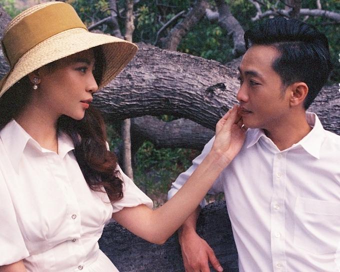Đàm Thu Trang ôm chặt Cường Đôla trong ảnh cưới - 9