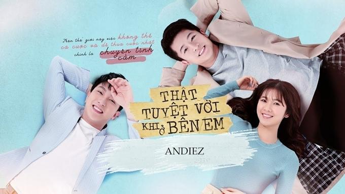 Từ trái sang: B Trần, Harry Lu và Oanh Kiều vướng vào chuyện tình tay ba trong phim.