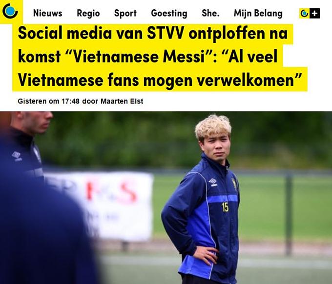 Công Phượng nhận sự quan tâm từ các báo thể thao ở Bỉ.