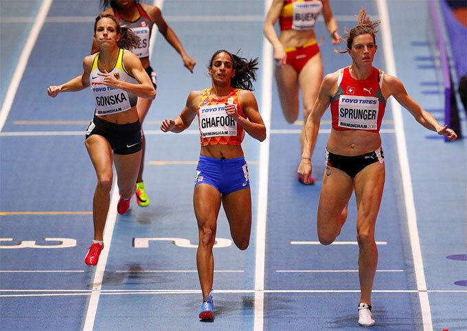 Ghafoor cùng các đồng đội tuyển điền kinh Hà Lan tham dự cự ly 4x400m tiếp sức tại Olympic Rio 2016.