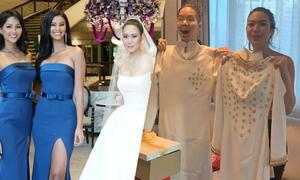 Áo dài cưới H'Hen Niê tặng Hoa hậu Thái Lan