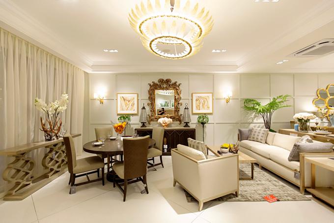 Một gợi ý về cách sắp xếp phòng khách kết hợp phòng ăn cho những hộ gia đình sống ở chung cư không có diện tích lớn.