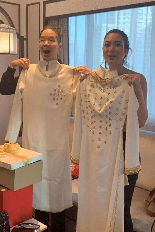 Áo dài cưới của HHen Niê tặng Hoa hậu Thái Lan - 1