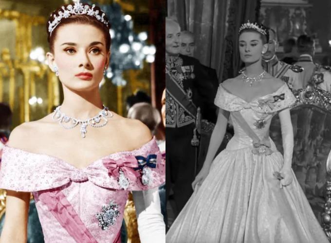 Mẫu đầm mà Audrey Hepburn diện khi hóa thân thành công chúa Ann trong phim Kì nghỉ ở Rome.