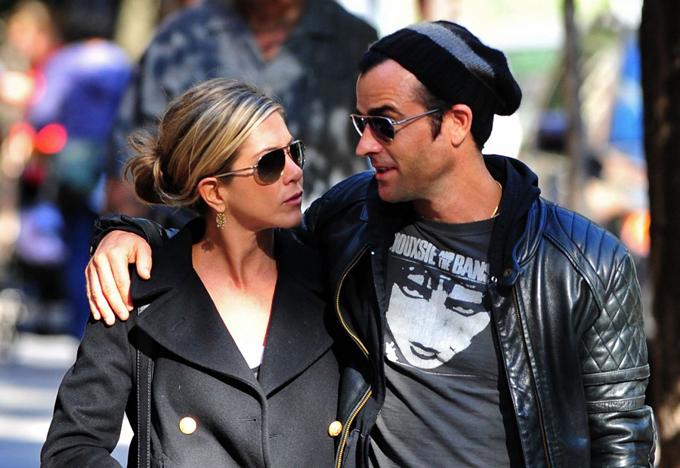 Jennifer và Justin Theroux thời còn chung sống.
