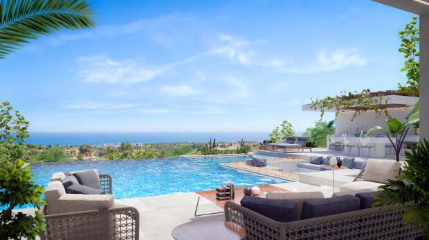 Với một bể bơi vô cực nhìn thẳng ra biển Địa Trung Hải