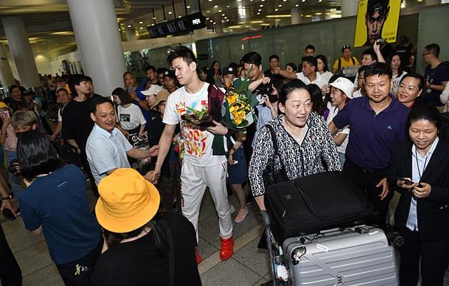 Trở về quê nhà sau giải vô địch thế giới, Sun Yang