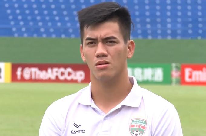 Tiến Linh trả lời trang chủ AFC. Ảnh: AFC.